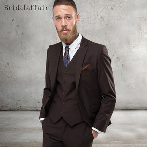 Formal Slim Fit Suits Groom Tuxedo 3Pcs