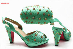 Italian Shoes with Matching Bags Italian Design deep red African Nigeria Shoes and Bag Set