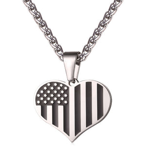 Stainless Steel American Flag,USA Patriot Freedom Stars and Stripes