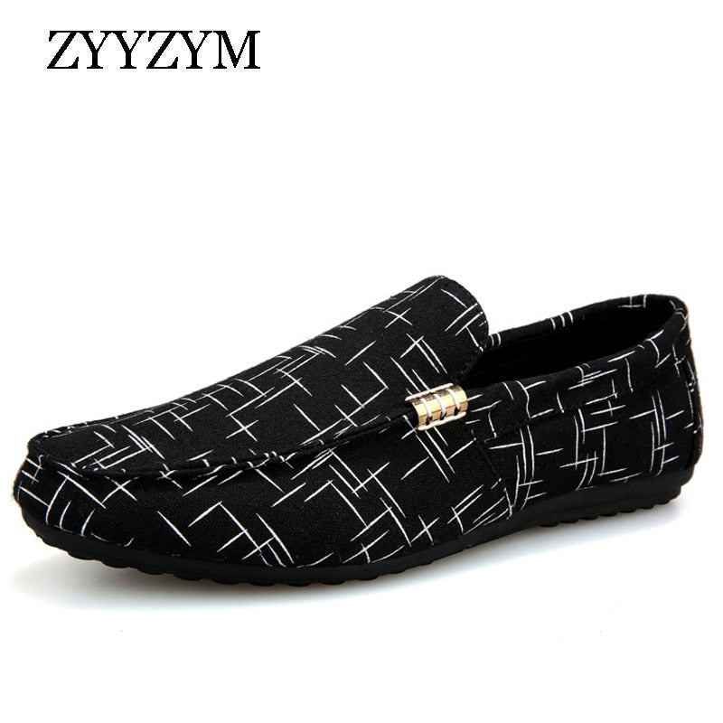 Men Loafers Casual Shoes Light Canvas Youth Footwear