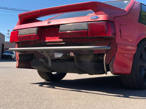 Rear Drift Style Tubular Bumper Support - 79-93 Foxbody Mustang