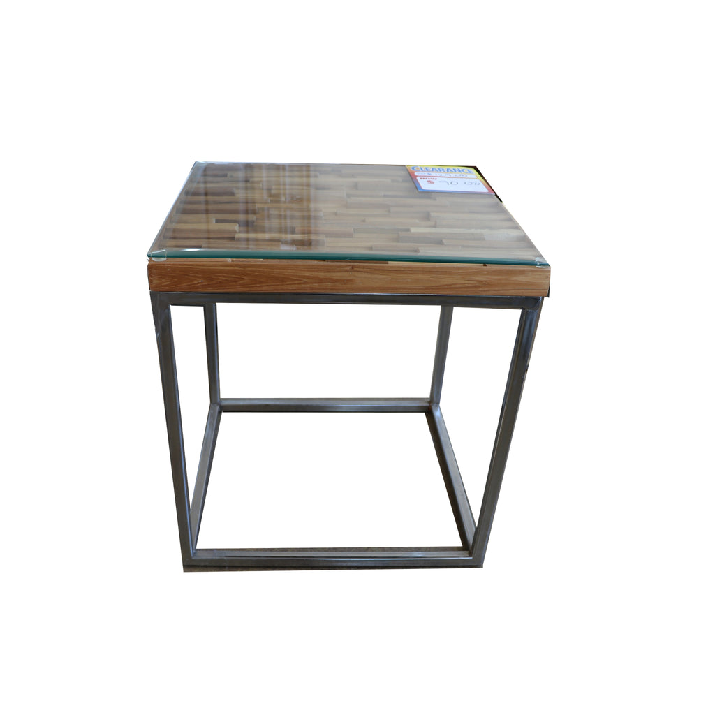 WOOD TOP CORNER TABLE CT2