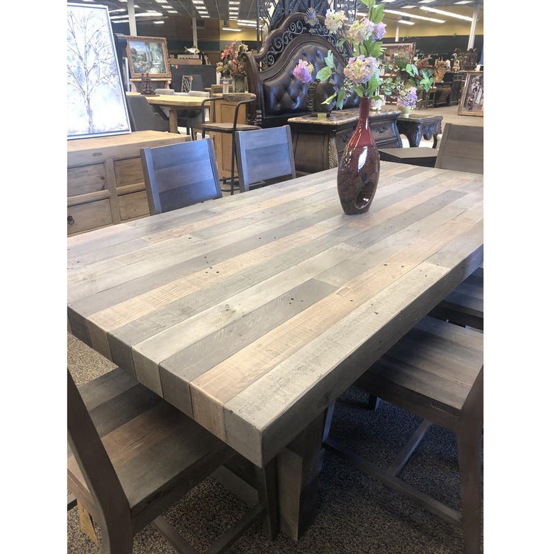 Natural Multi-tone Reclaimed Wood Dining Table