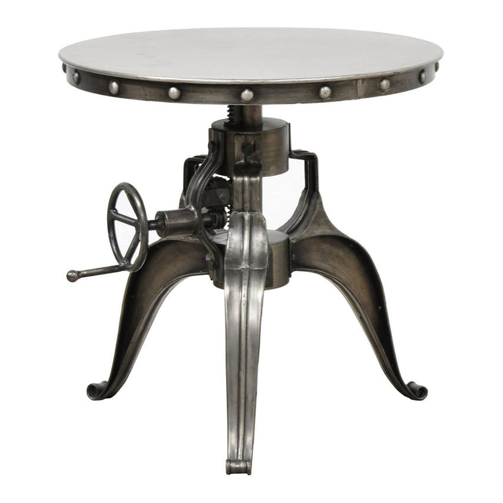 "Afton Crank Table 30"" Nickel"