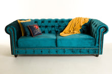 Load image into Gallery viewer, [Chesterfield 3 seater Velvet Sofa] - CrosswillSofas