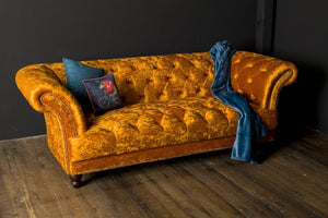 [Chesterfield 3 seater Velvet Sofa] - CrosswillSofas