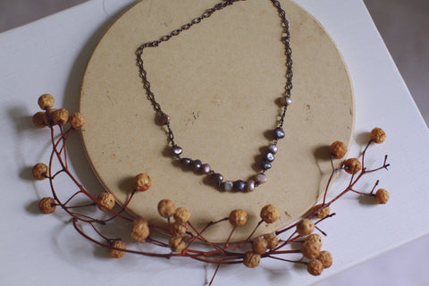 ~ artisan pearl necklace ~