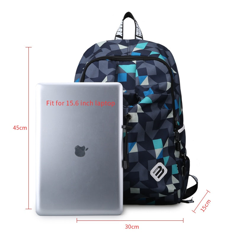Water Repellent Nylon Student and Business Backpack