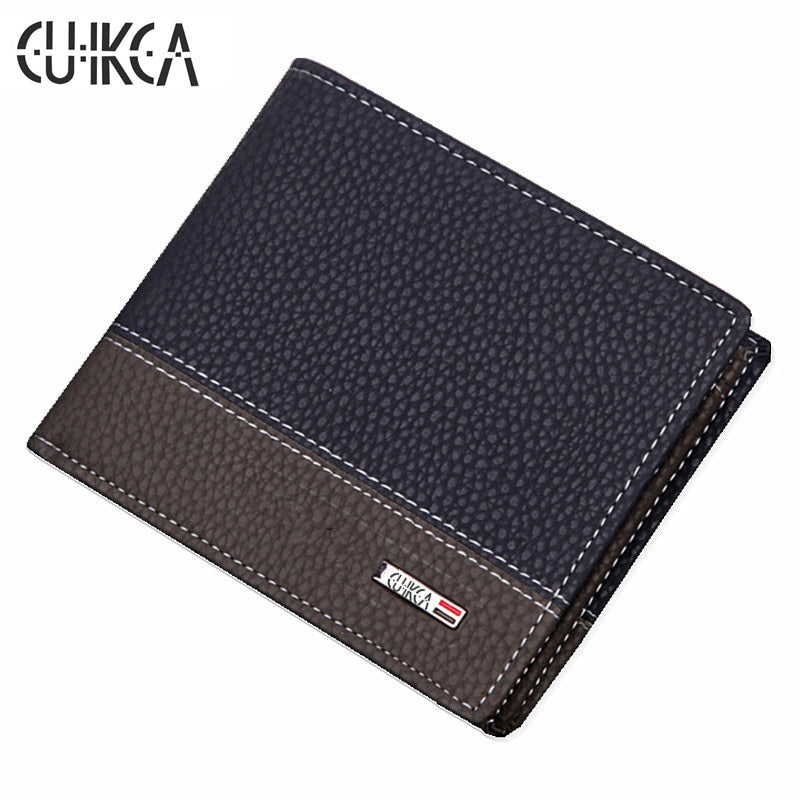 Leather Slim Wallet with Coin Pocket