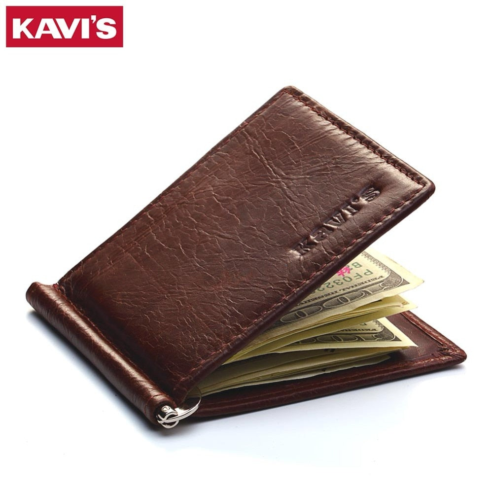 Slim Leather Billfold and Money Clip
