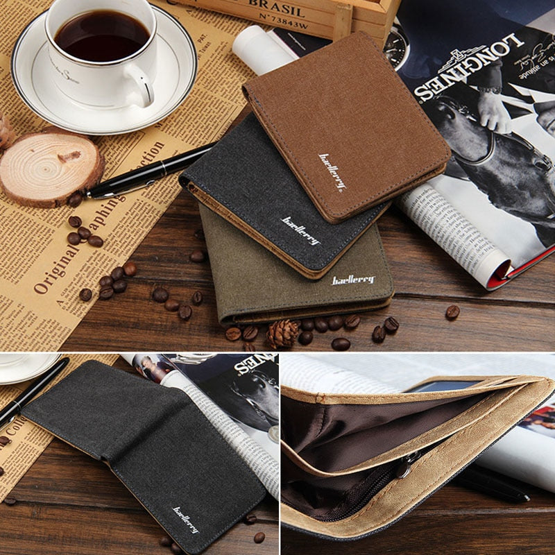 Men's Bifold Leather Wallet & ID Holder