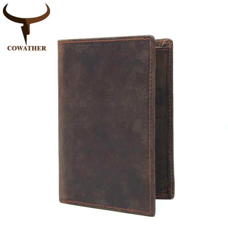Vintage Vertical 100% Leather Wallet