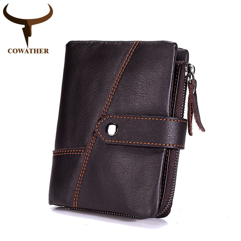 First Layer Genuine 100% Leather Wallet and Coin Bag