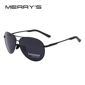 MERRYS Retro Aviator Polarized Sunglasses