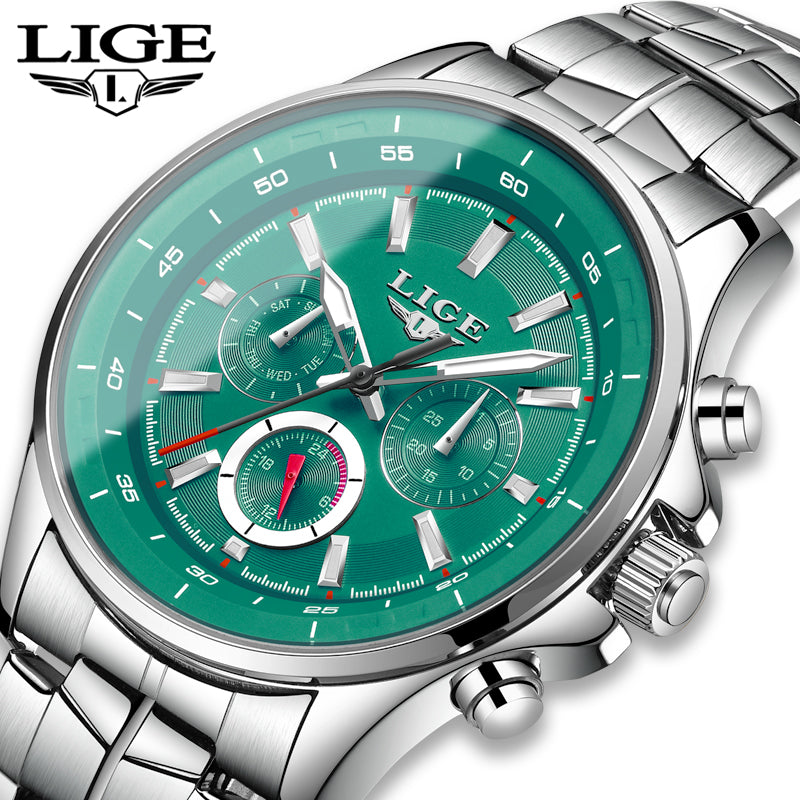 LIGE Shockproof Sport Wrist Watch