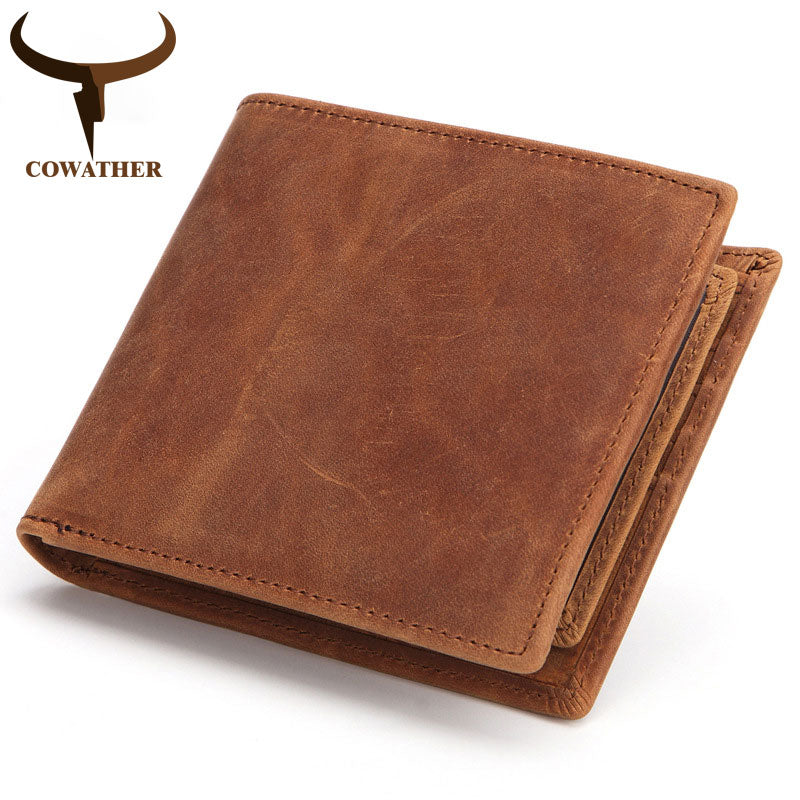 100% Genuine Leather Short Wallet