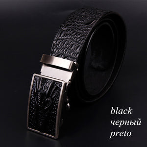 Alligator Print Genuine Cow Skin Belt