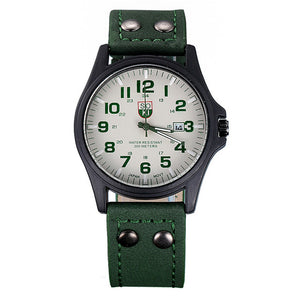 Modern Leather Wrist Watch