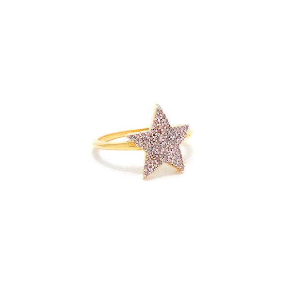 Pink Diamond Star Ring-Ring-Jaipur Atelier