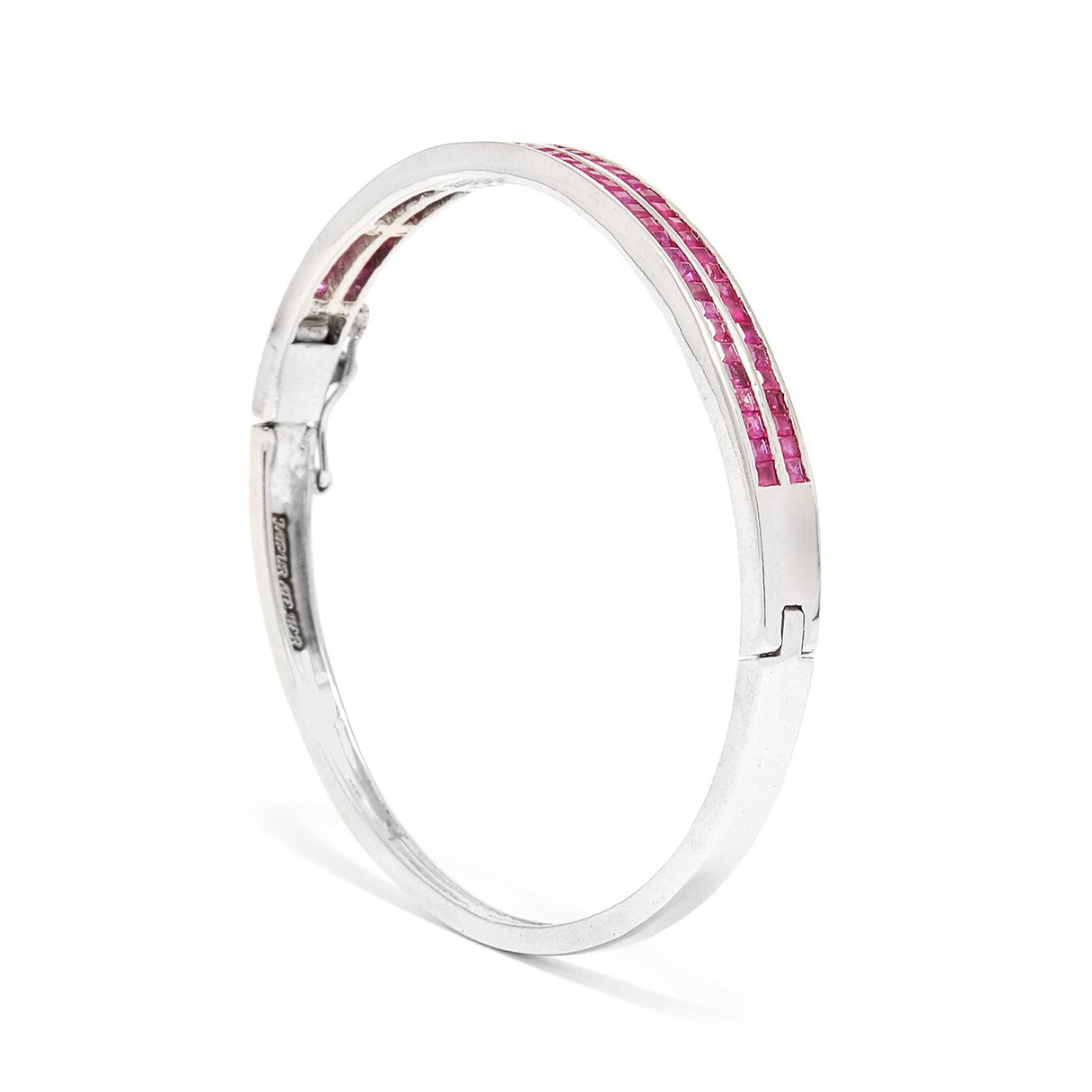 Ruby Doublet Baguette Bangle
