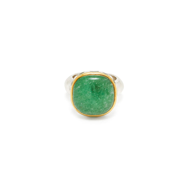 Green Quartz Rani Ring