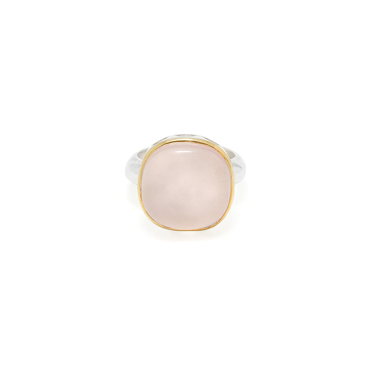 Rose Quartz Rani Ring