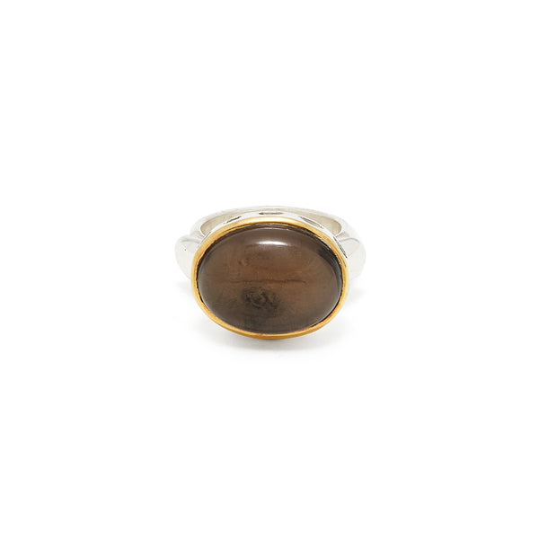 Smokey Quartz Rani Ring