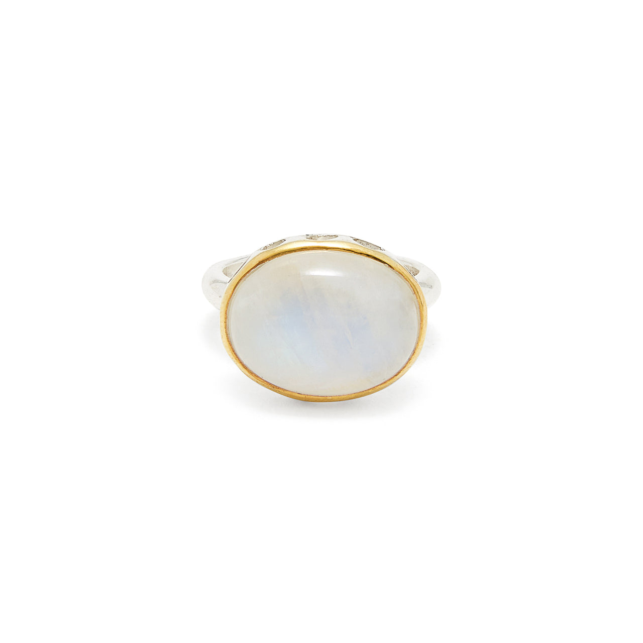 Rainbow Moonstone Rani Ring