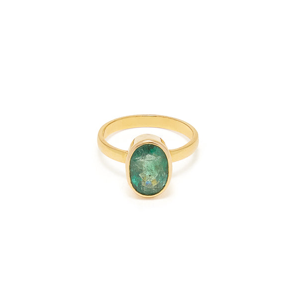Emerald Navratan Astrology Gold Ring