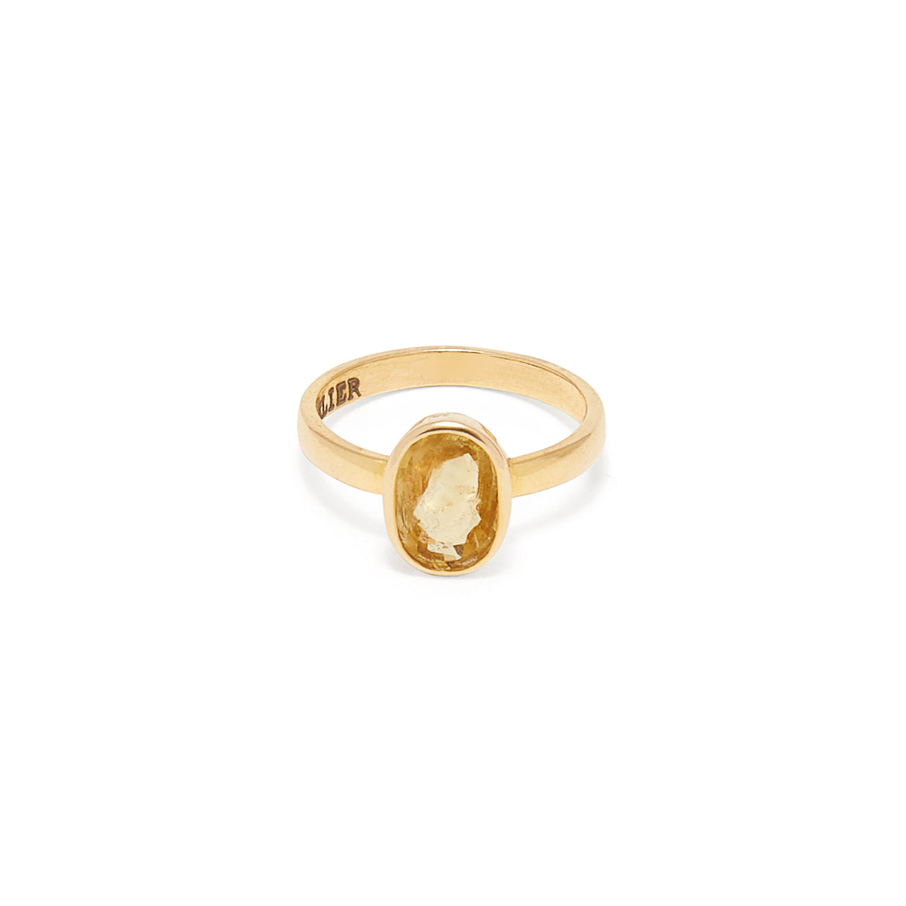 Yellow Sapphire Navratan Astrology Ring-Ring-Jaipur Atelier