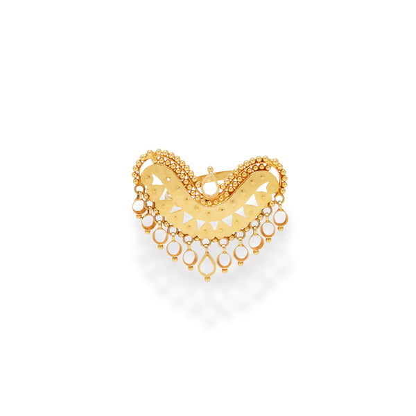 Boho Heart  22 Karat Gold Statement  Ring