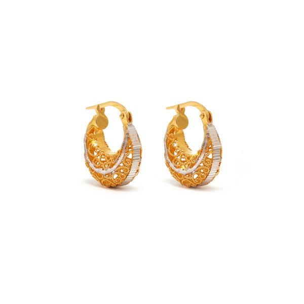 Jaipur Atelier Petit Filigree Hoop Earrings
