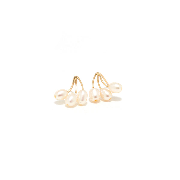 Pearl Branch Stud Earrings-Earrings-Jaipur Atelier