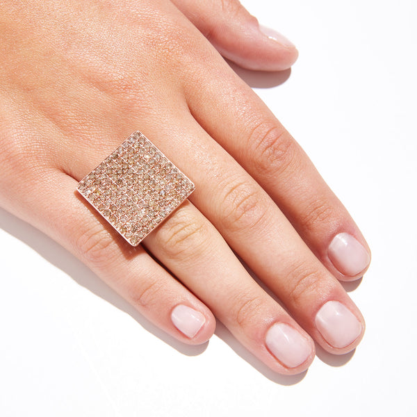 Jaipur Atelier Champagne Rose Diamond Statement Ring