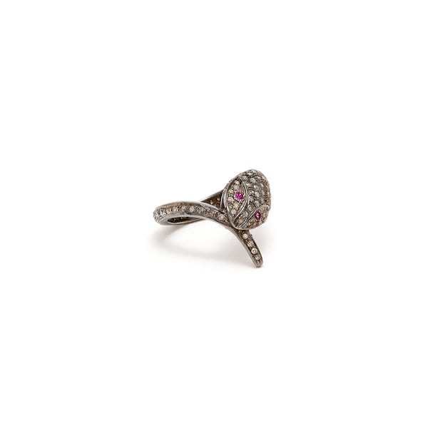Jaipur Atelier Ruby &  Diamond Snake Ring