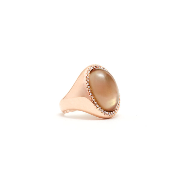Jaipur Atelier The Rose Moon Diamond Cocktail Ring