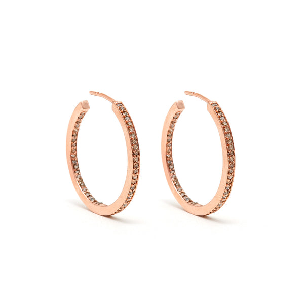Open Rose Gold Hoops