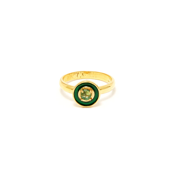 Petit Jai Emerald Enamel Four Ring