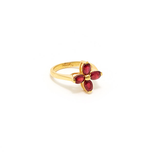 Petit Jai Ruby Two Ring