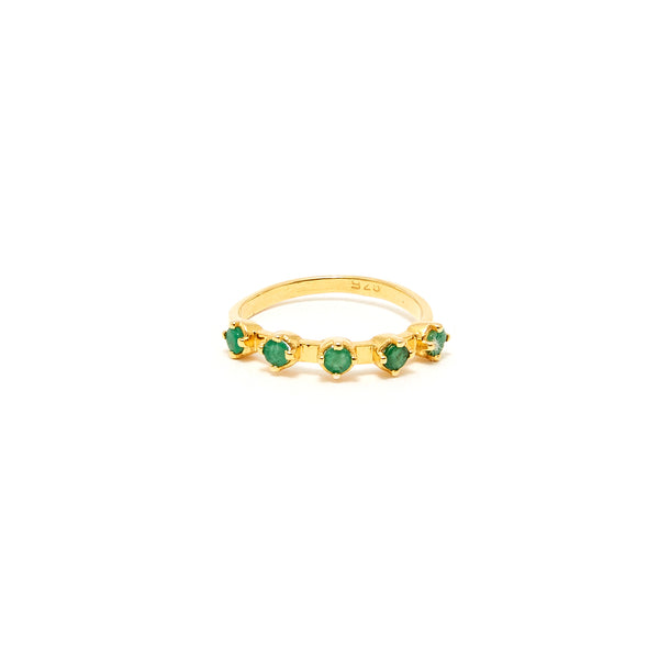 Petit Jai Emerald Five Ring