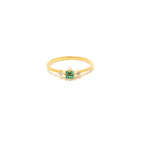 Petit Jai Emerald Diamond One Ring