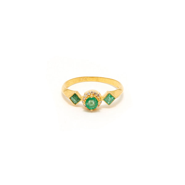 Petit Jai Emerald Diamond Six Ring