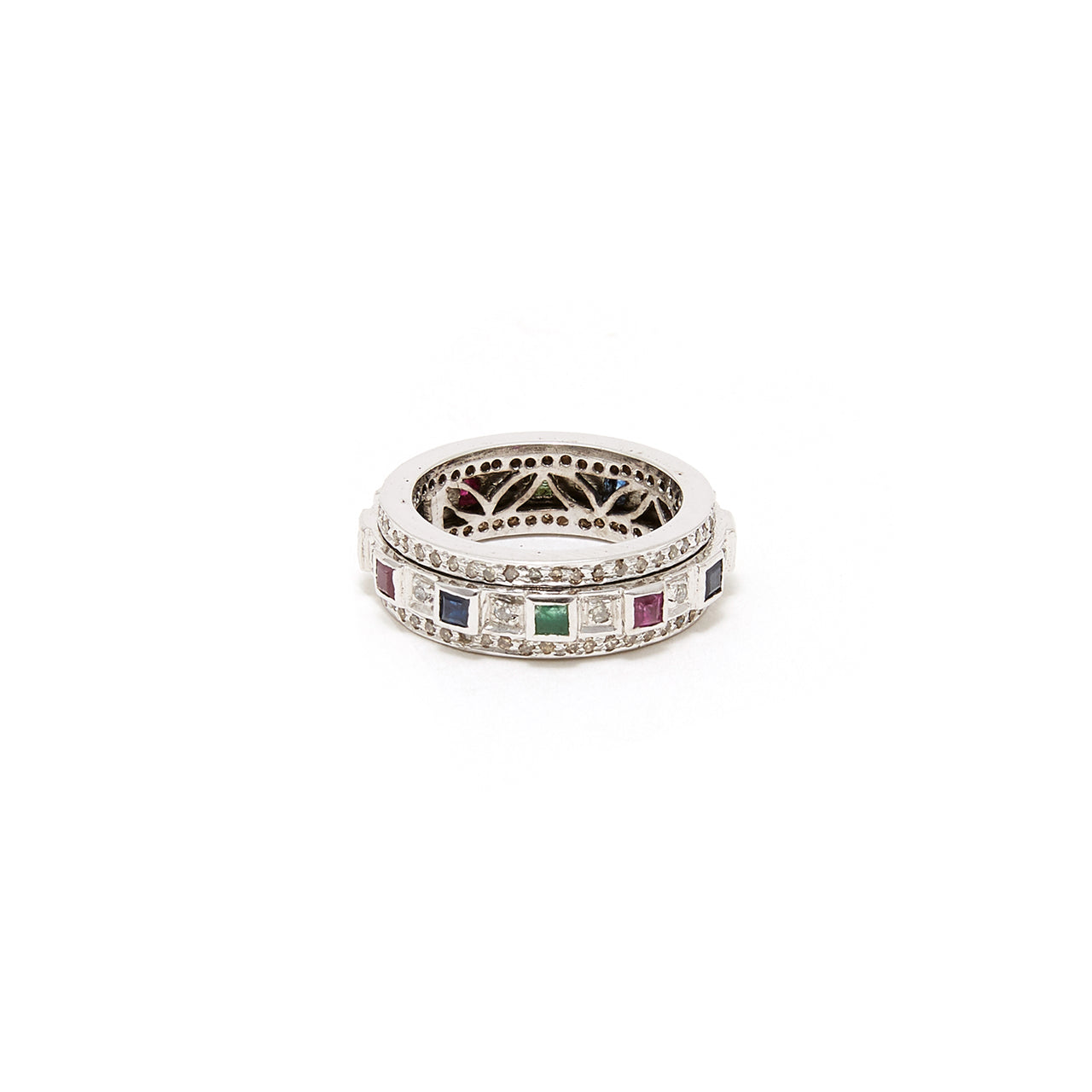 Saturn Diamond Baguette Band-Ring-Jaipur Atelier