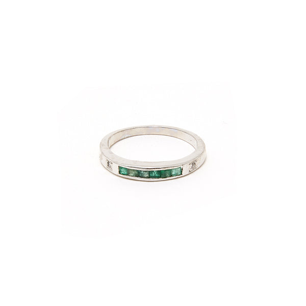 Emerald Baguette Inlay Ring-Ring-Jaipur Atelier