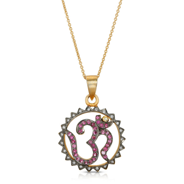Ruby Diamond OM Pendant