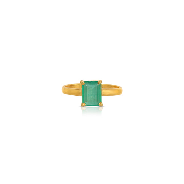 Emerald Cut Emerald Dress Ring