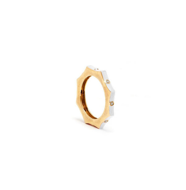 Nikki Star White Enamel Ring