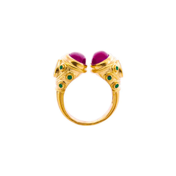 Ruby Emerald Maharani Ring