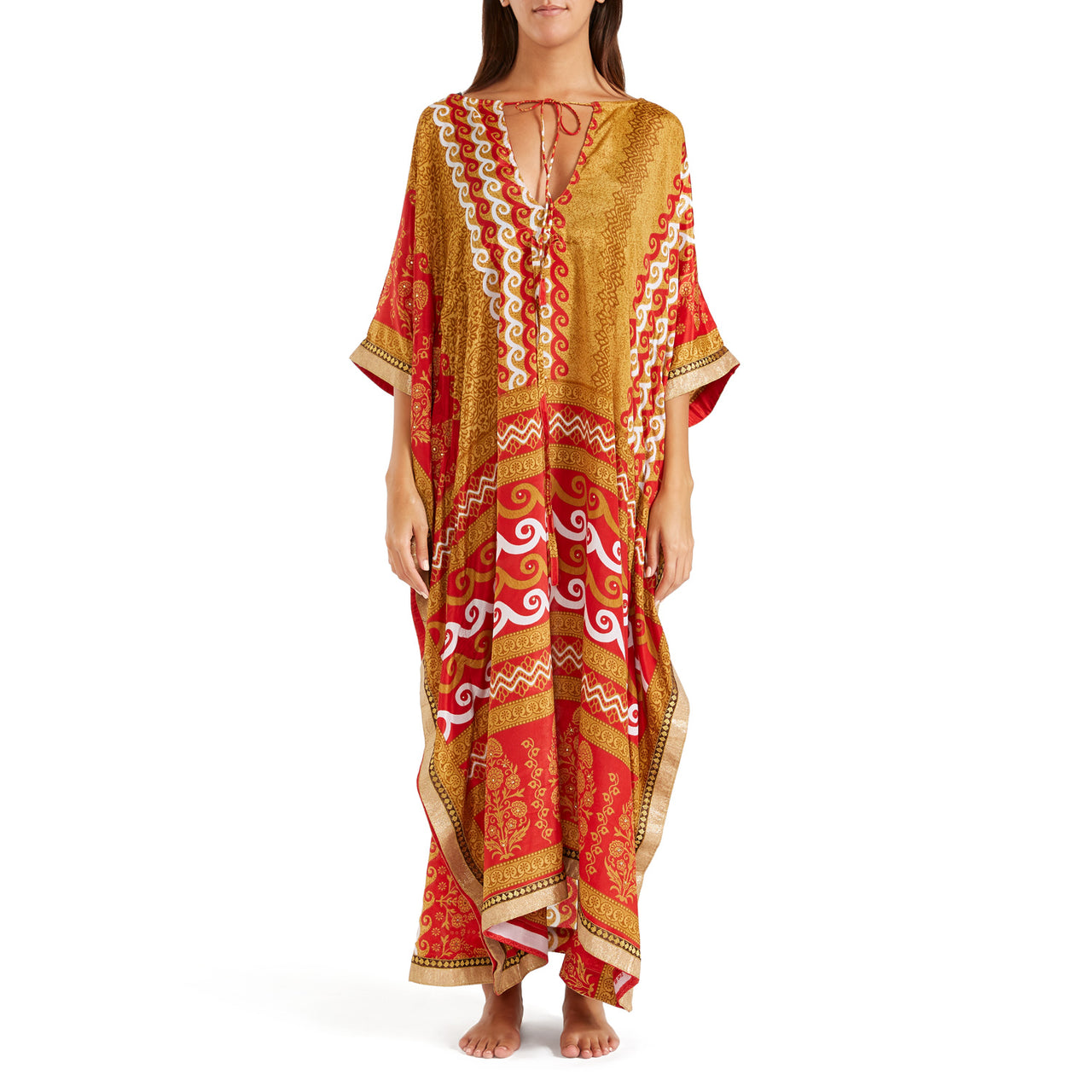 The Shannon Silk Kaftan 7