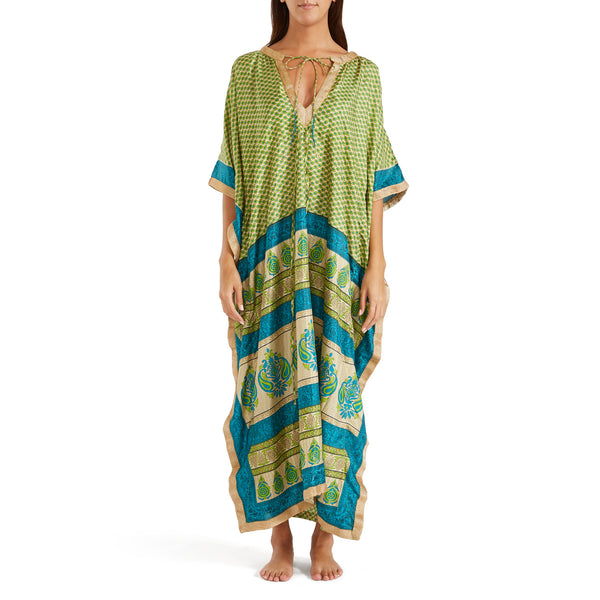 The Shannon Silk Kaftan 10